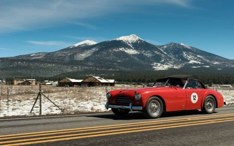 The 27th running of the Copperstate 1000 featured vintage cars all the way up to 1973. It runs all over the most beautiful parts of Arizona. 1953 Allard K-3