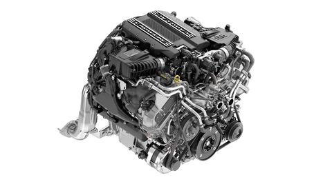 This new Cadillac-exclusive 4.2-liter twin-turbo V8 will deliver 550 hp and 627 lb-ft of torque.