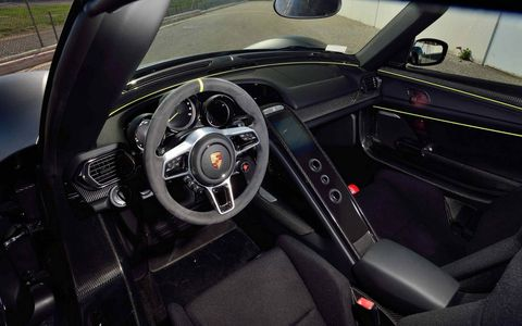 This 918 has the Weissach package that takes off some weight, adds magnesium wheels and some aero aids, and charges you $84,000 for the privilege.