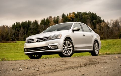 The Passat has received updated front and rear fascias with this midcycle refresh.