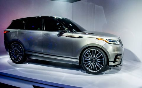 The 2018 Range Rover Velar made its North American debut at the New York auto show, ahead of an August 2017 commercial launch in the U.S. with three engines to choose from.