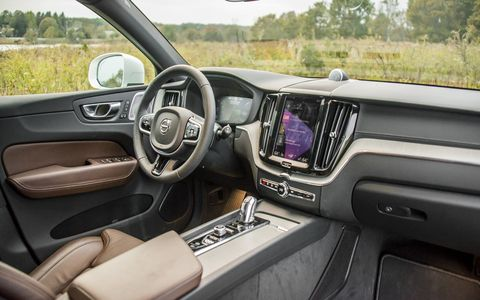 The interior of the XC60 is ergonomic, modern and very comfortable.