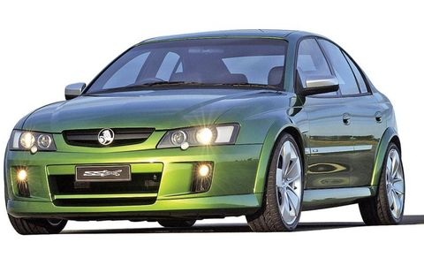 Holden SSX concept: This V-8, all-wheel-drive car looks like a four-door sedan but is actually a five-door hatchback. It debuted on the auto show circuit in 2002.