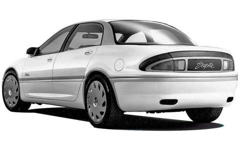 Buick Sceptre concept: Built in 1992, the Sceptre contributed its overall rear-end treatment to the 1997 Buick Regal.