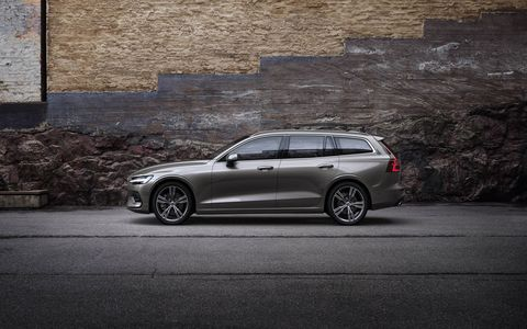 The 2019 Volvo V60 wagon will get a range of powertrains and be offered in front- or all-wheel drive.