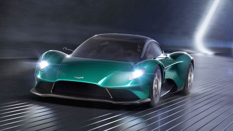 The Vanquish Vision concept previews a midengined supercar that Aston Martin will put into production in 2022.