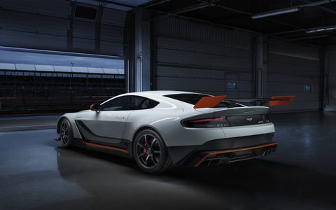 The GT3-inspired special edition is lower and wider than any of the other Vantage vehicles.