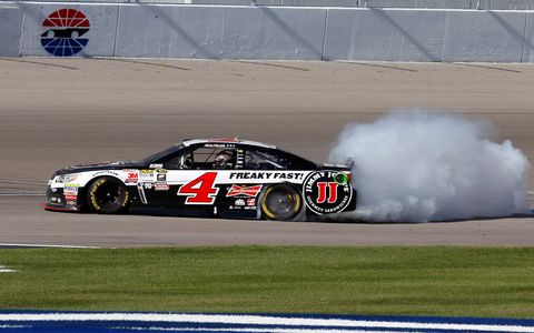 Defending NASCAR Sprint Cup Series champion Kevin Harvick became the third different winner in three races this season with his win on Sunday at Las Vegas Motor Speedway.