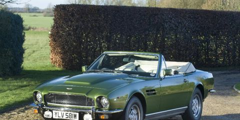 Classics like this 1981 Aston Martin V8 Volante will roll across the block this weekend.