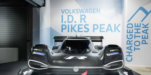 Volkswagen's Pikes Peak Hill Climb entry is the I.D. R Pikes Peak -- a 680-hp, two-motor battery electric racer.