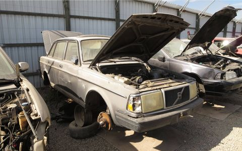 Volvo 244 will be shipping containers soon.