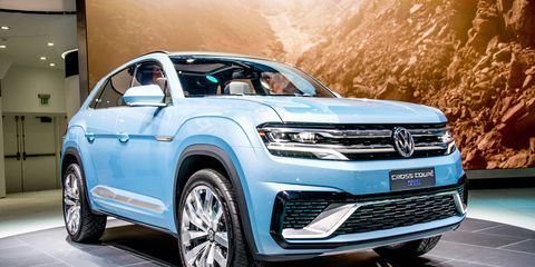 The 2015 Volkswagen Cross Coupe GTE made its debut at the 2015 Detroit Auto Show.