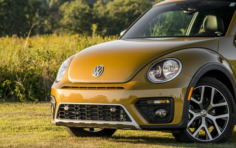 The Beetle Dune pays homage to the Baja Bugs of decades past with a raised ride height, a distinctive exterior color and some other visual cues.