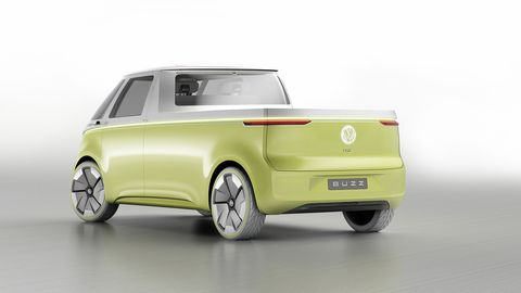 VW will show a panel van version of the ID Buzz microbus and is studying single- and double-cab models of it.