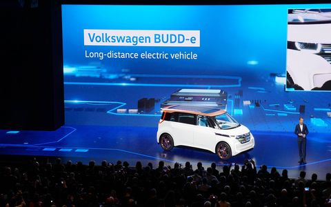Volkswagen's BUDD-e concept sits on the all-new MEB platform, made just for electric cars and buses.