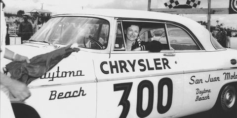 Vicki Wood dominated the Daytona Beach time trials circuit in the late 1950s and early 1960s.
