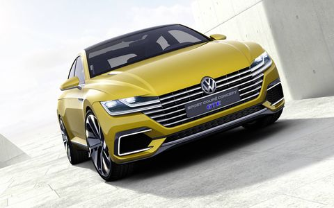 The 2015 Volkswagen Sport Coupe Concept GTE is the latest in a line of GTE hybrid concepts.