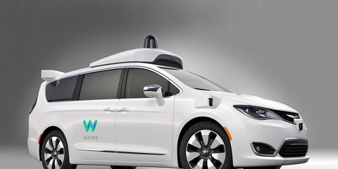 Vehicles under development by Google autonomous driving concern Waymo, such as this Chrysler Pacifica minivan, depend on a range of specialized sensor systems to operate.