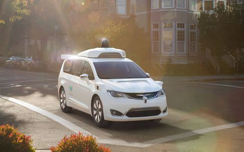 Fiat Chrysler provided Google Waymo with 100 Pacifica Hybrid minivans for self-driving testing.