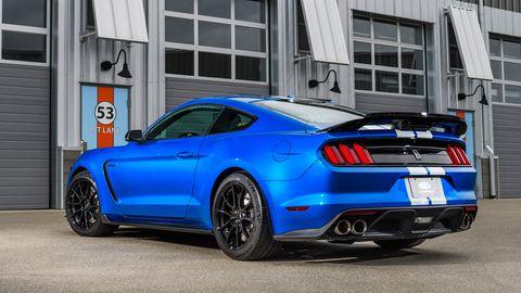 Land vehicle, Vehicle, Car, Blue, Rim, Performance car, Motor vehicle, Shelby mustang, Muscle car, Automotive design,