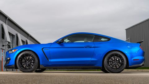 Velocity blue is a new color option on the 2019 Ford Mustang Shelby GT350.