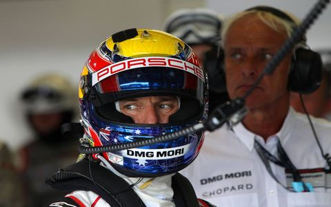 Former Formula One star Mark Webber helped Porsche come out on top Sunday.
