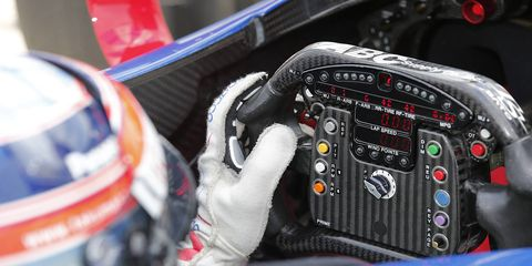 IndyCar is experimenting with a damper, or shock absorber, for the steering wheel to combat hand and wrist injuries.
