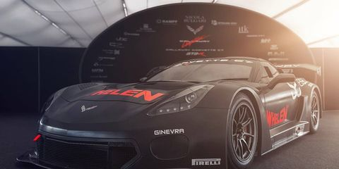 The Callaway Corvette C7 GT3-R was unveiled on Oct. 3 at the ADAC GT Masters season finale at the Hockenheimring in Germany.
