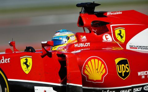 Ferrari's Fernando Alonso hope to pilot the red car a spot on the podium Sunday at Circuit of the Americas.
