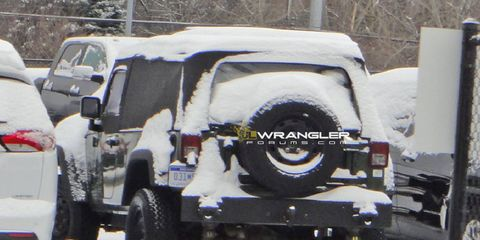 Originally suspected to be the forthcoming U.S.-spec two-door Jeep Wrangler pickup, this is actually a Jeep J8.