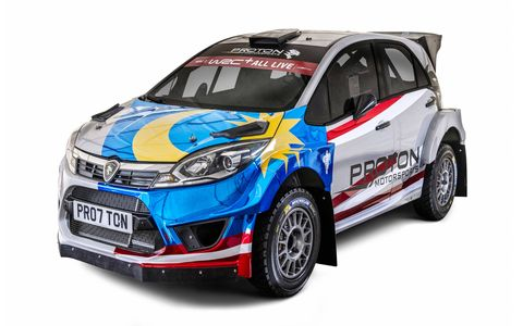 Teams of the World Rally Championship unveiled their 2018 liveries at the Autosport International Show in Birmingham, U.K. Here's the WRC Proton.