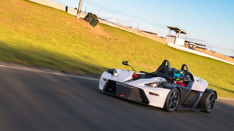 The KTM X-Bow Comp R comes with an Audi-sourced I4 making 300 hp.