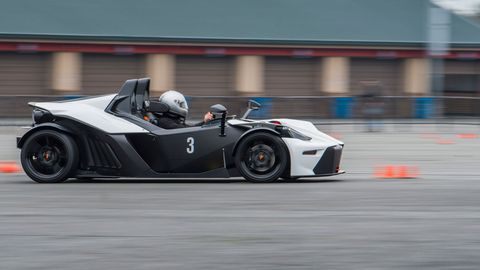 We tested the KTM X-Bow Comp R at Sonoma Raceway in California.