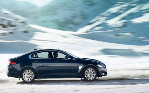 In the XF, the supercharged V6 produces 340 hp at 6,500 rpm.