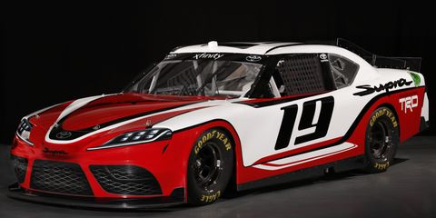 Toyota officially unveiled the Supra as the race car to replace the Camry in the NASCAR Xfinity Series starting in 2019.