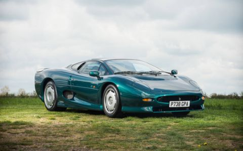 This XJ220 shows a claimed 2,633 miles from new.