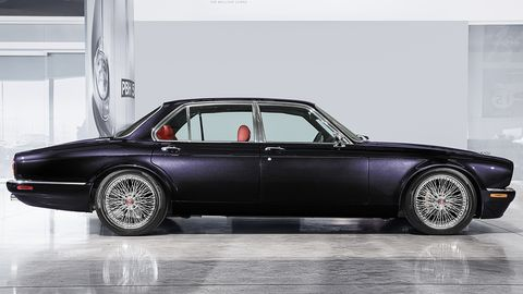 Over 3,500 hours went into remaking this XJ6 for the Iron Maiden drummer, with many custom touches inside and out.