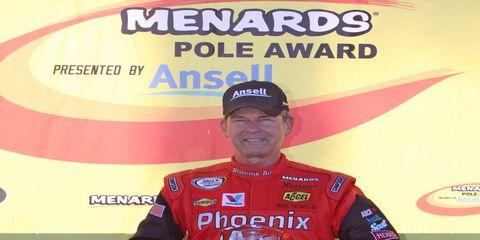 Mark Thompson, 63, became the oldest pole sitter in Daytona International Speedway history on Friday.