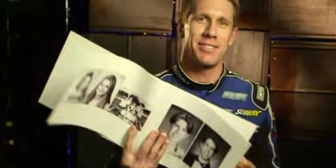 NASCAR driver Carl Edwards was one of several drivers who revisited his old yearbook photos.