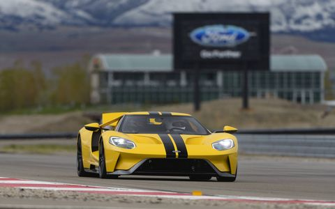 The Ford GT is a fabulous on-track performer, using all of its 647 hp, with steering, suspension and brakes to match. There are still 250 available, with orders for those being taken early next year. Price is $450,000 apiece.