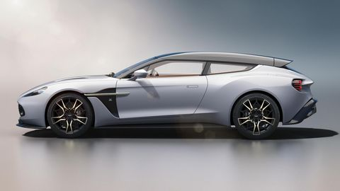The Vanquish Zagato Shooting Brake is powered by 5.9-liter V12.