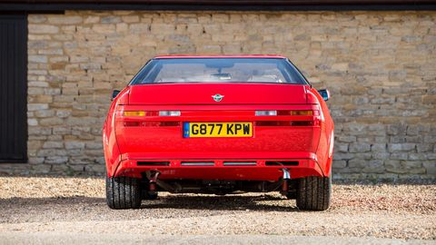 This 1986 Aston Martin V8 Vantage Zagato has covered just under 400 miles in its 32 years.