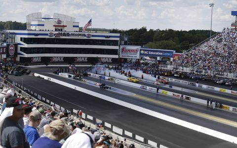 Sights from Saturday's qualifying action for the NHRA Chevrolet Nationals at zMax Dragway in Charlotte.