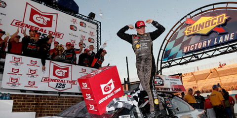 Sam Mayer's fourth victory of 2019 came in the season finale at Dover.