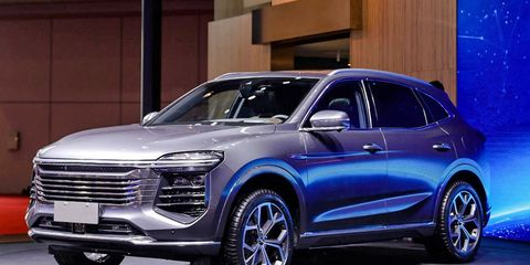 The redesigned Zotye T600 was shown at the Shanghai auto show this year.