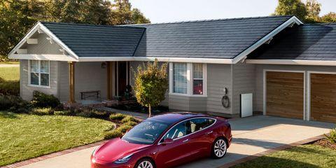 Vehicle, Car, Luxury vehicle, Property, House, Automotive design, Mid-size car, Real estate, Rim, Tesla model s,