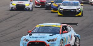 The Veloster N is the basis for Hyundai's two-car IMSA team, fielded by Bryan Herta, the former IndyCar driver.