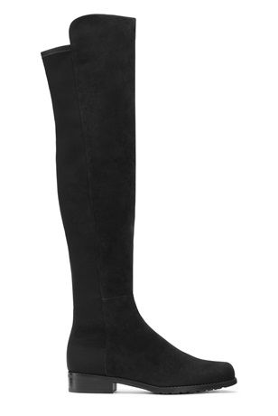 stuart weitzman black suede 5050 over the knee boot