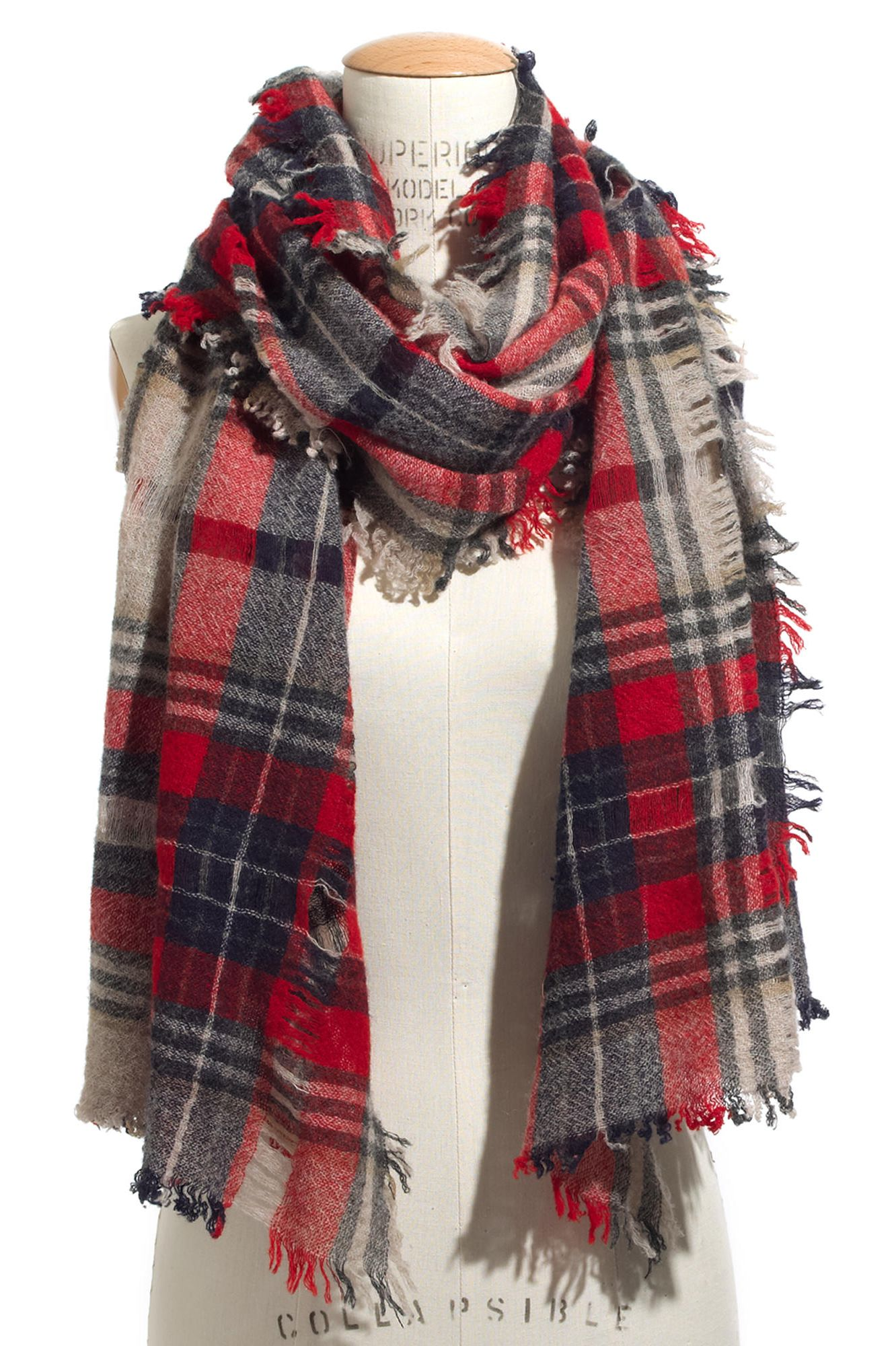 madewell openweave scarf in scottsdale plaid