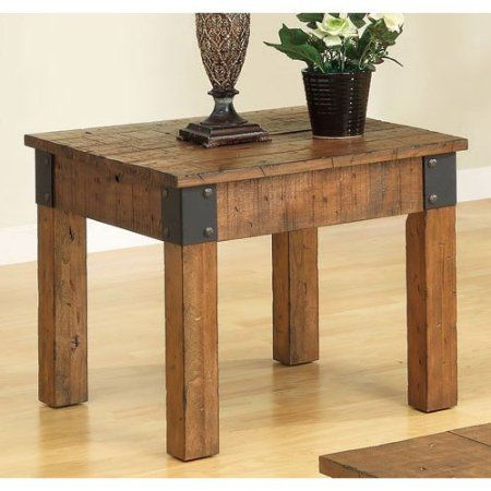 Country Wagon Rustic End Table
